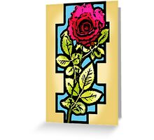 Stained Glass Rose Greeting Card
