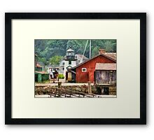 Transportation - Wagon - Mystic CT - Life at Mystic Framed Print