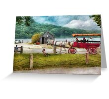 Transportation - Wagon - Traveling in style Greeting Card
