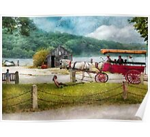 Transportation - Wagon - Traveling in style Poster