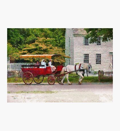 Transportation - Wagon - On way to the market  Photographic Print