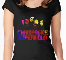 champagne supernova Women's Fitted Scoop T-Shirt