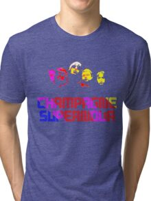 champagne supernova Tri-blend T-Shirt