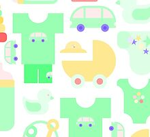 Pattern of baby goods. With the new baby! by HelgaScand