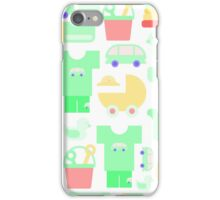 Pattern of baby goods. With the new baby! iPhone Case/Skin