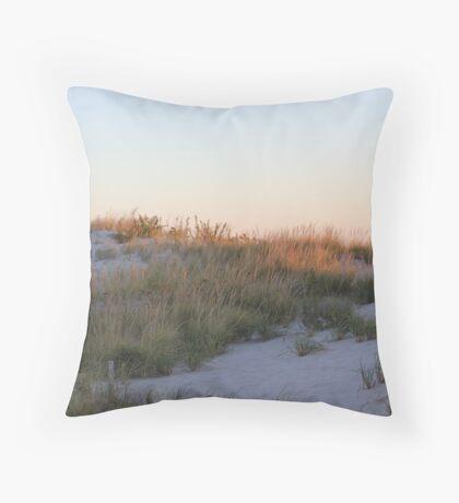 Sand Dune at Sunrise Throw Pillow