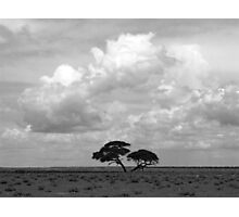 Storm clouds over Etosha. Photographic Print