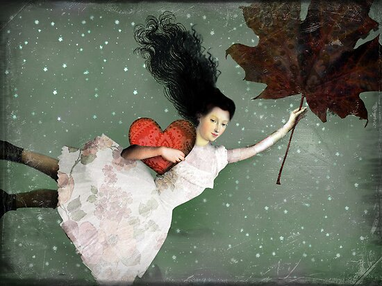 Valentine's Day Art and Design: Back to earth by Catrin Welz-Stein