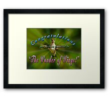 FEATURED IN THE WONDER OF WINGS challenge Framed Print