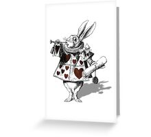White rabbit heart Greeting Card