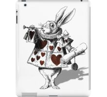White rabbit heart iPad Case/Skin