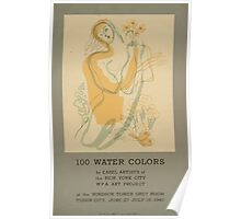 WPA United States Government Work Project Administration Poster 0638 100 Water Colors New York City Poster