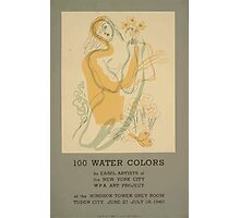 WPA United States Government Work Project Administration Poster 0638 100 Water Colors New York City Photographic Print