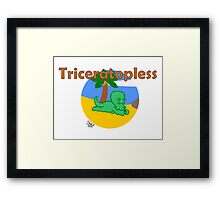 Triceratopless Framed Print