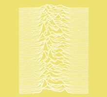 Unknown Pleasures - Joy Division white Kids Tee