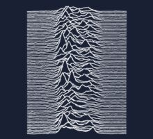 Unknown Pleasures - Joy Division white Kids Tee