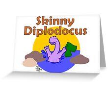 Skinny Diplodocus Greeting Card
