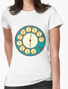 Telephone Dial Womens Fitted T-Shirt