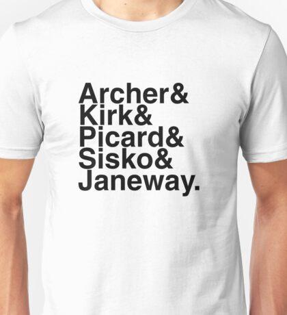 Star Trek Captains Unisex T-Shirt
