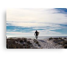 New Jersey Surfer Canvas Print