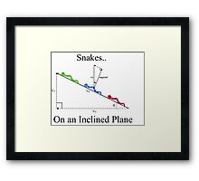 Snakes on a Plane Framed Print