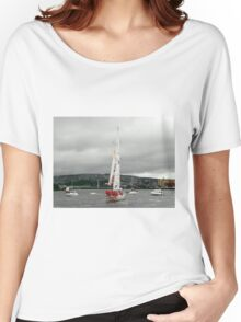 Derry Clipper Yacht - River Foyle Derry Ireland  Women's Relaxed Fit T-Shirt