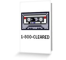 1-800-CLEARED Greeting Card