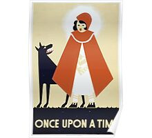 WPA United States Government Work Project Administration Poster 0384 Once Upon a Time Poster