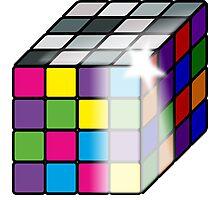 Rubiks Cube Photographic Print