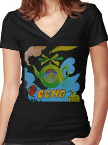 Gong T-Shirt Women's Fitted V-Neck T-Shirt