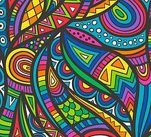 Wild Aztec Multi Coloured by CajaDesign