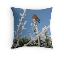 Haw Frost, Robin Throw Pillow