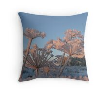 Haw Frost on Fennel Throw Pillow