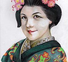 The geisha Iskamontero by Lubna