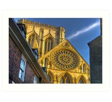 A Closer View of the Rose Window - York Minster Art Print
