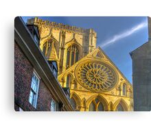 A Closer View of the Rose Window - York Minster Metal Print