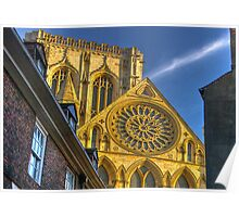 A Closer View of the Rose Window - York Minster Poster
