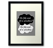 BBC Sherlock quote Framed Print