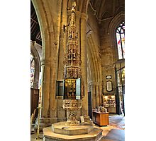 ST Wulframs Church Font Grantham,England Photographic Print
