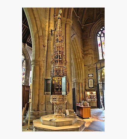 ST Wulframs Church Font Grantham,England Photographic Print