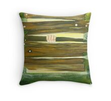 The Barred window Throw Pillow