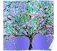 Tree Oil Painting Poster