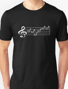 GOSPEL - Words in Music - V-Note Creations (white text) T-Shirt