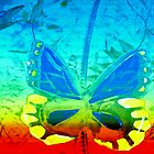 Butterfly in primary colors by ?? B. Randi Bailey