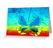 Butterfly in primary colors Greeting Card