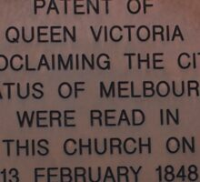 Plaque on St Peter's Church Eastern Hill Vic Australia Sticker