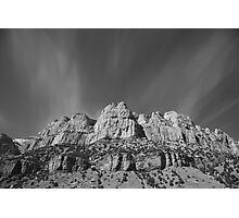 Mountain Peaks and Shimmering Sky Photographic Print