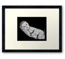 Cute Baby Framed Print