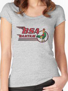 BSA Bantam Motorcycle Women's Fitted Scoop T-Shirt