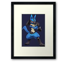 pokemon lucario legendary anime manga shirt Framed Print